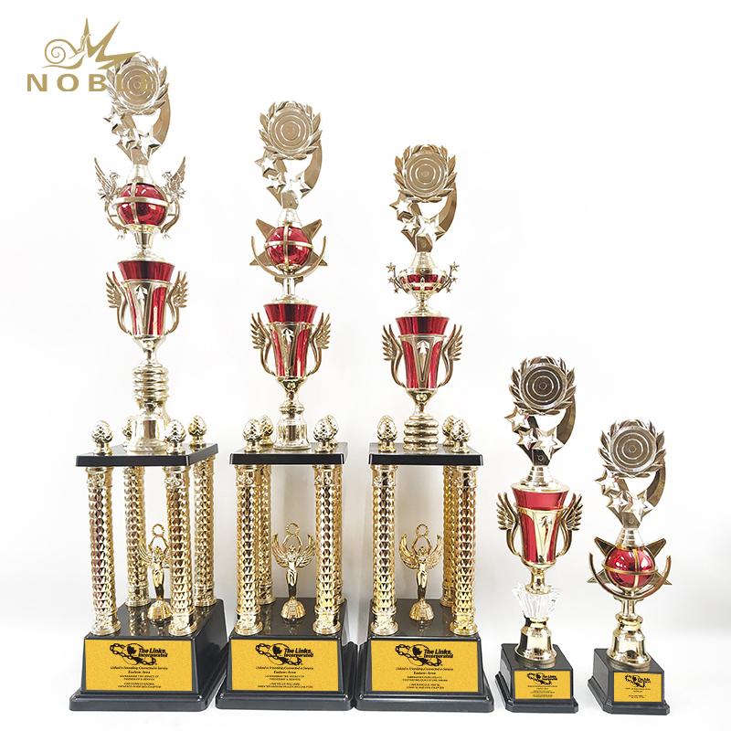 Noble New design Custom sports american football metal award trophy cup trophy