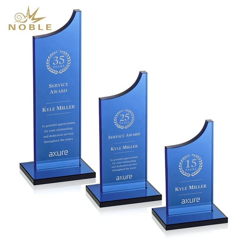 New Design Berrattini Award Custom Blue Crystal Plaque Trophy