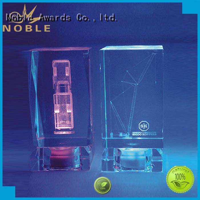 Noble Awards jade crystal Blank Crystal Trophy free sample For Gift