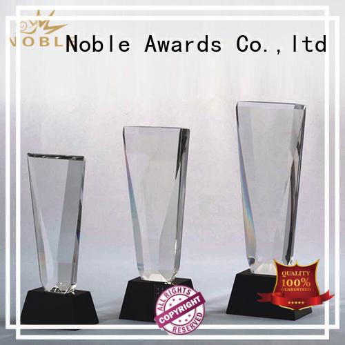 Noble Awards premium glass Blank Crystal Trophy bulk production For Gift