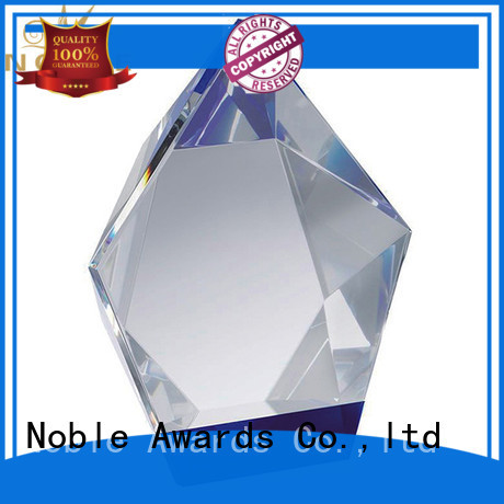 Noble Awards durable 2019 Noble Customized Blank Crystal Trophy For Company Sales Awards premium glass For Sport games