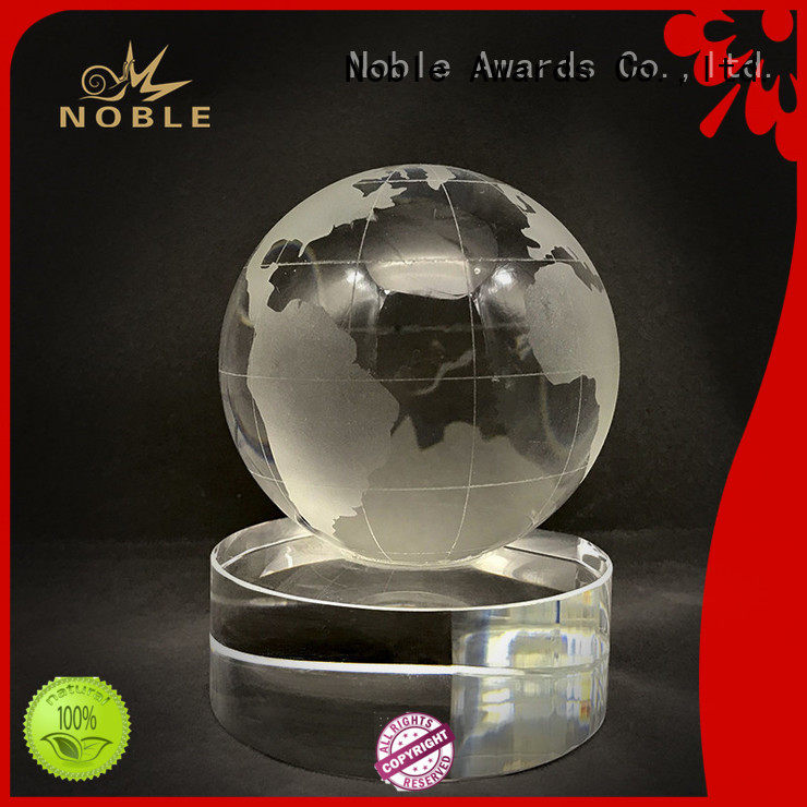 Noble Awards jade crystal Crystal trophies supplier For Gift
