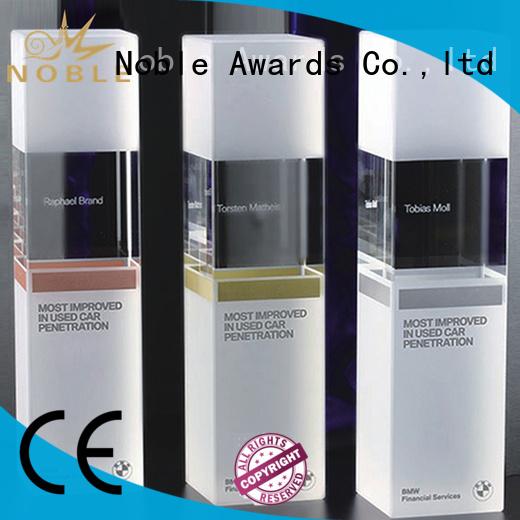 durable Blank Crystal Trophy jade crystal ODM For Sport games