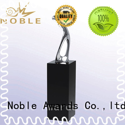 Noble Awards Aluminum Metal trophies with Gift Box For Gift