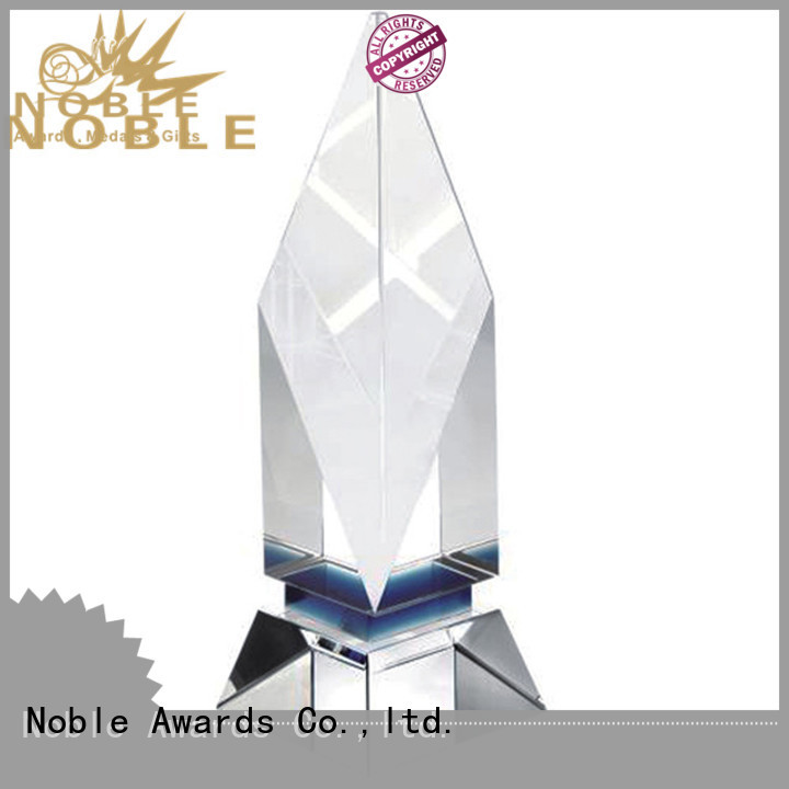 Noble Awards jade crystal Crystal trophies free sample For Gift