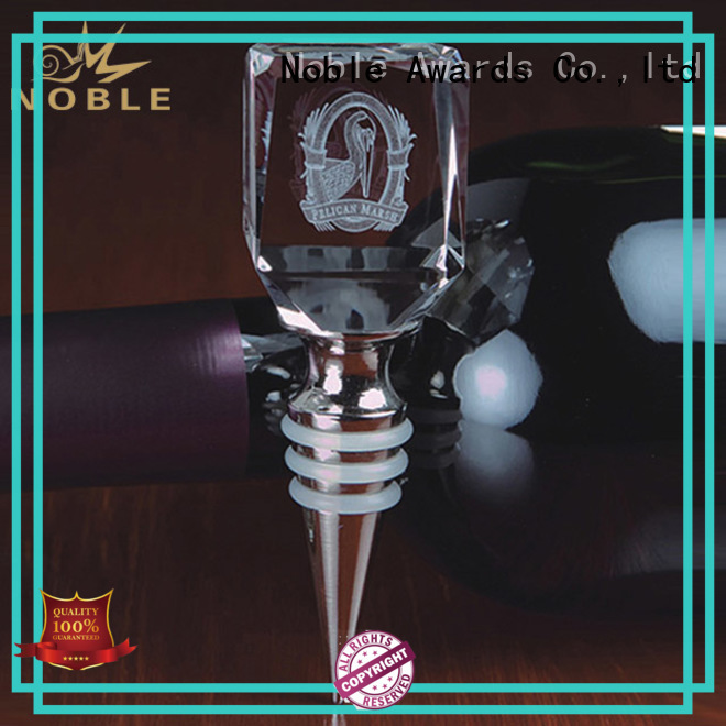 Noble Awards matal personalized glass gifts with Gift Box For Sport games