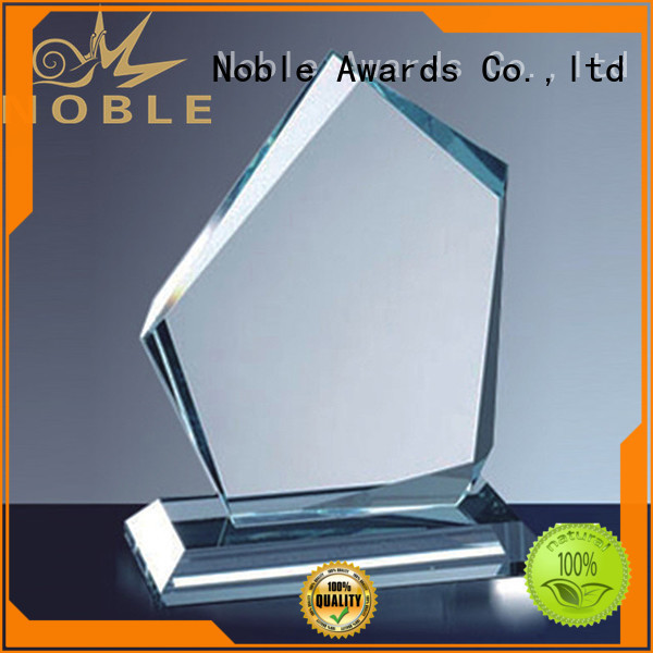Noble Awards premium glass Blank Crystal Trophy free sample For Awards