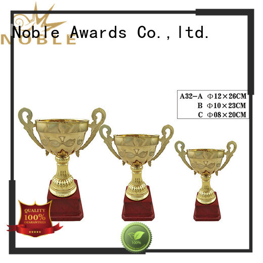 Noble Awards durable Personalized Metal trophies with Gift Box For Gift