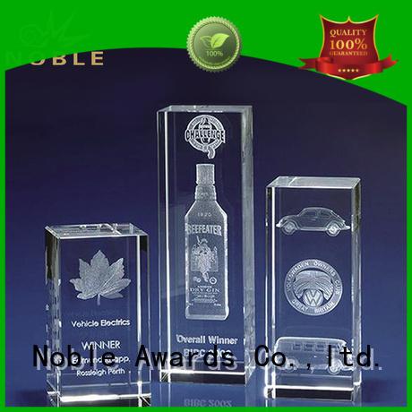 portable Crystal trophies premium glass bulk production For Sport games