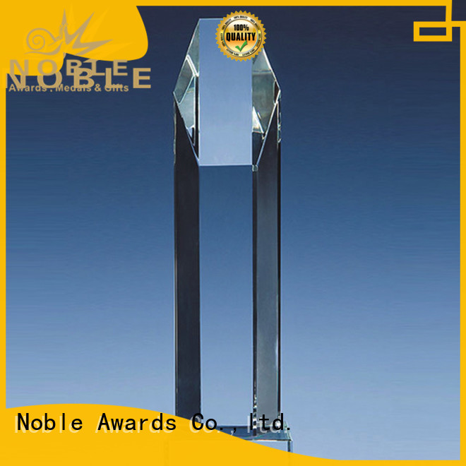 Noble Awards at discount Blank Crystal Trophy bulk production For Awards