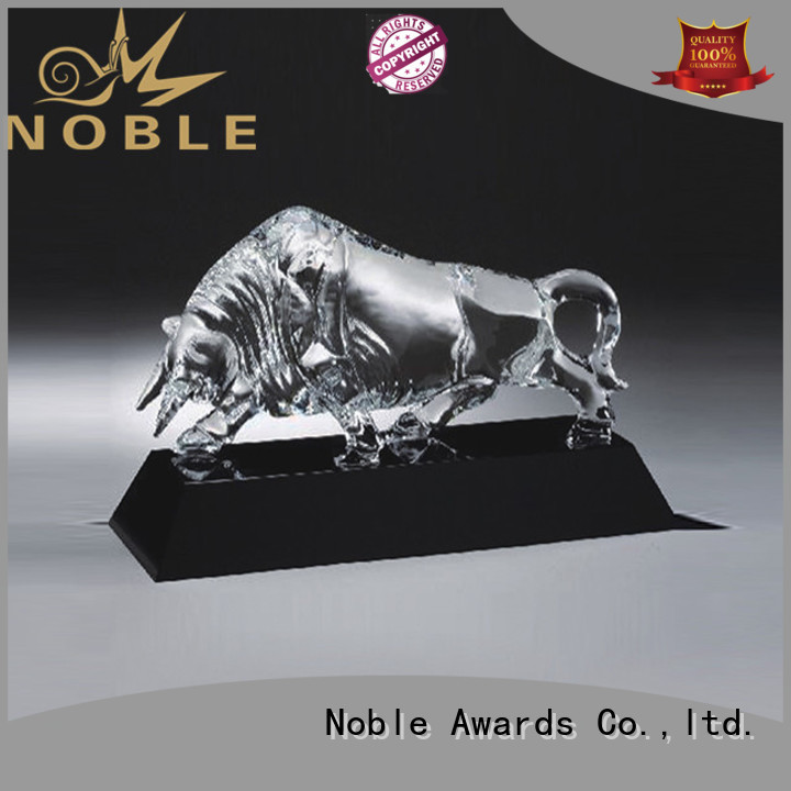 Noble Awards durable personalized glass gifts with Gift Box For Sport games