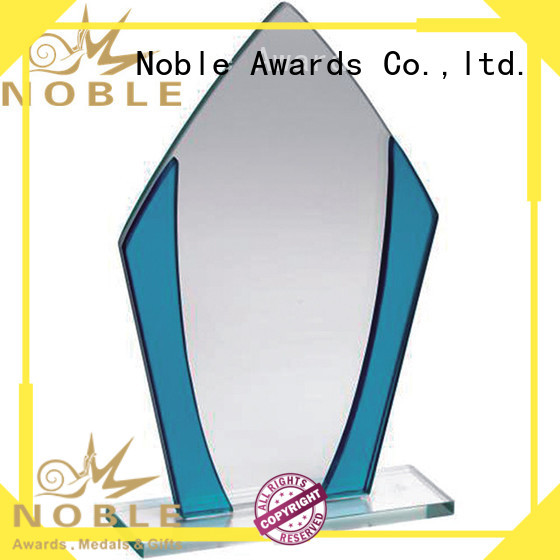 Noble Awards premium glass Crystal trophies bulk production For Awards