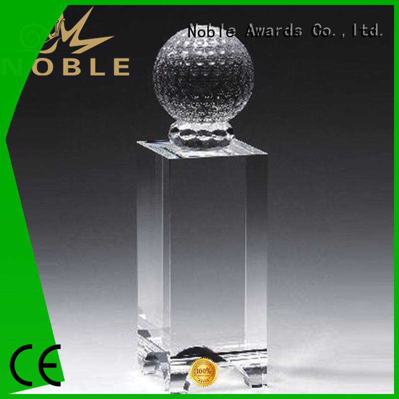 Noble Awards portable Crystal trophies get quote For Sport games