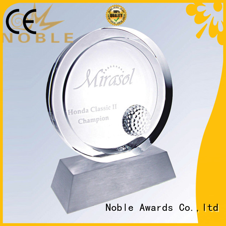 Noble Awards premium glass Crystal trophies get quote For Sport games
