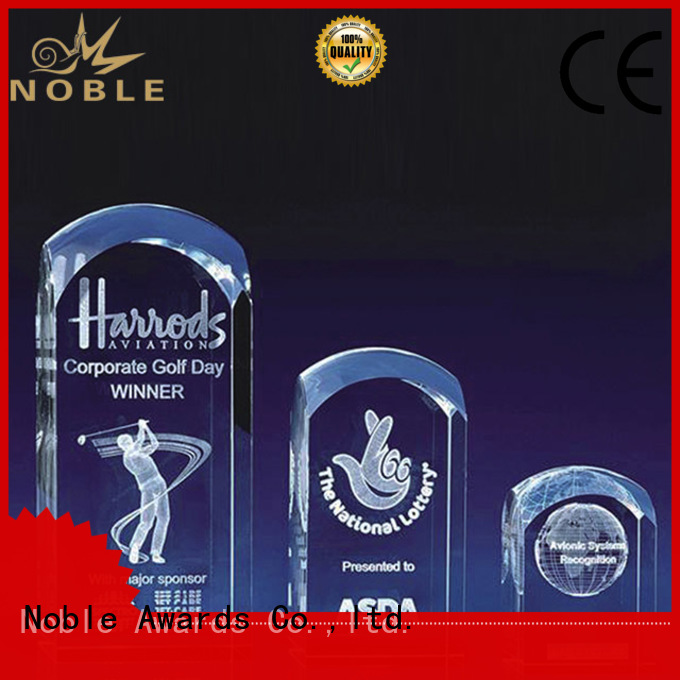 Noble Awards jade crystal Crystal Trophy Award free sample For Sport games
