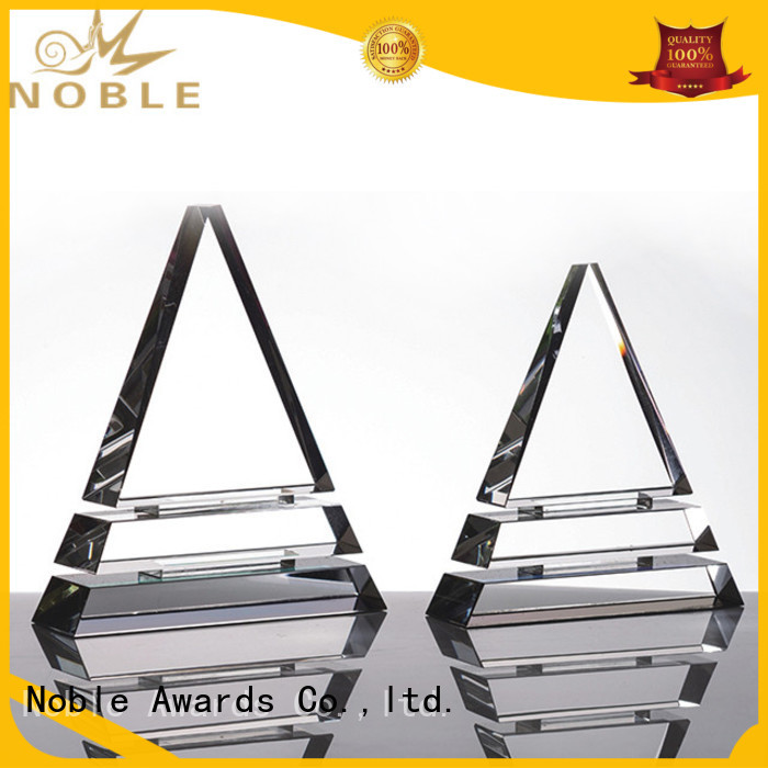 Noble Awards premium glass Blank Crystal Trophy buy now For Gift