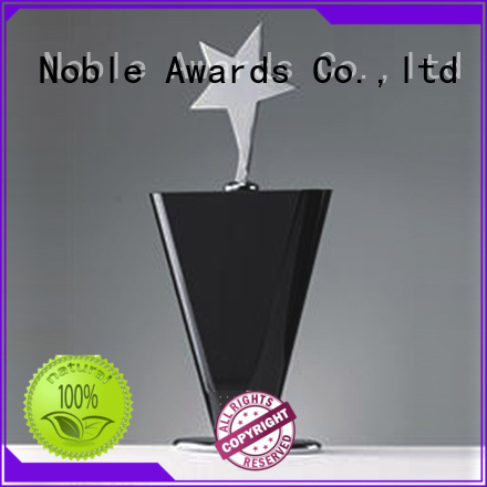 Noble Awards portable Crystal trophies free sample For Gift