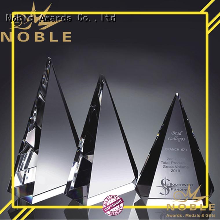 solid mesh Crystal trophies jade crystal OEM For Awards