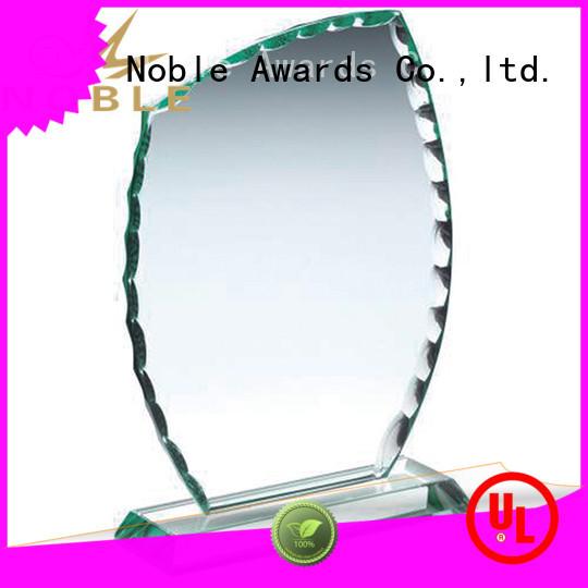 Noble Awards jade crystal Crystal Trophy Award free sample For Sport games