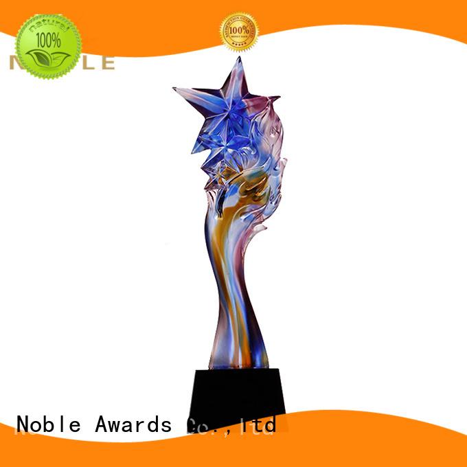 Noble Awards funky Liu Li trophies OEM For Awards