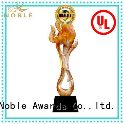 Noble Awards handcraft Liu Li trophies OEM For Gift