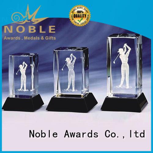 Noble Awards jade crystal Crystal Trophy Award free sample For Gift
