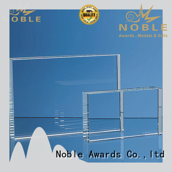 Noble Awards durable 2019 Noble Customized Blank Crystal Trophy For Company Sales Awards premium glass For Gift