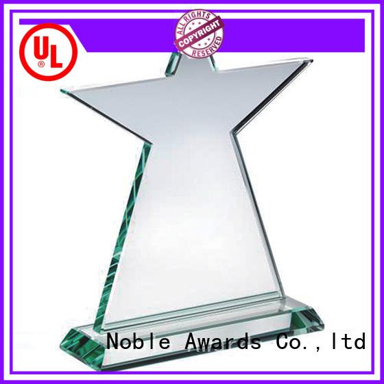 Noble Awards premium glass Crystal Trophy Award OEM For Awards