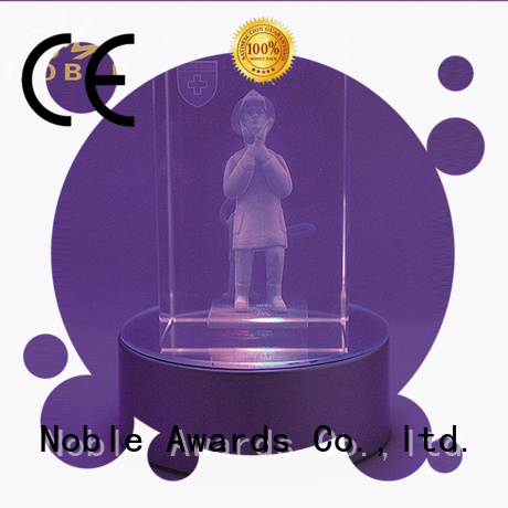 Noble Awards high-quality 2019 Noble Customized Blank Crystal Trophy For Company Sales Awards premium glass For Sport games