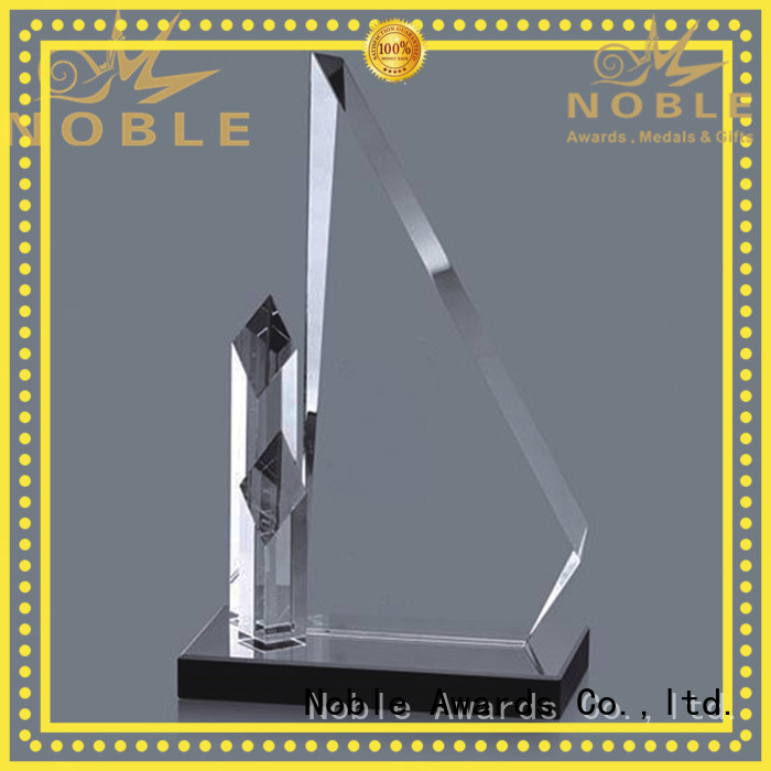 Noble Awards durable Crystal trophies for wholesale For Sport games