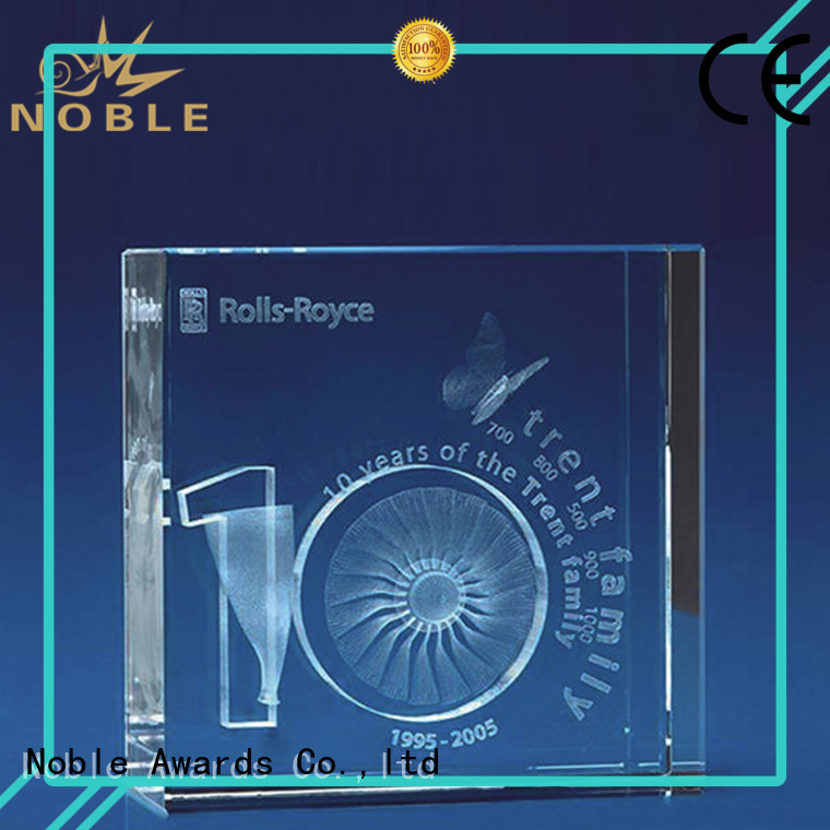 Noble Awards portable Blank Crystal Trophy supplier For Gift