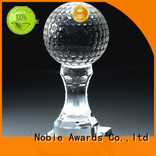 Noble Awards transparent personalized glass gifts with Gift Box For Sport games