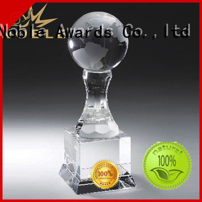 Noble Awards premium glass Blank Crystal Trophy bulk production For Sport games