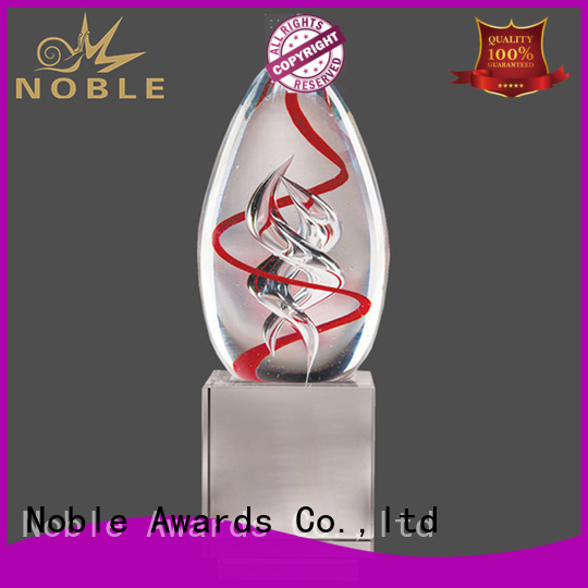 funky Art glass trophies glass supplier For Sport games
