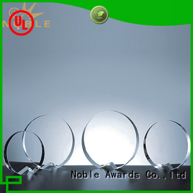 Noble Awards premium glass Crystal trophies bulk production For Gift