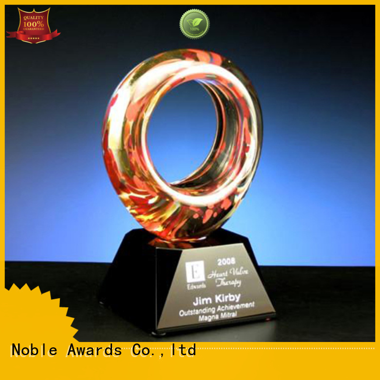 Noble Awards glass Art Craft glass trophies free sample For Gift