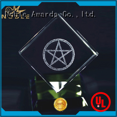 Noble Awards portable Blank Crystal Trophy ODM For Gift