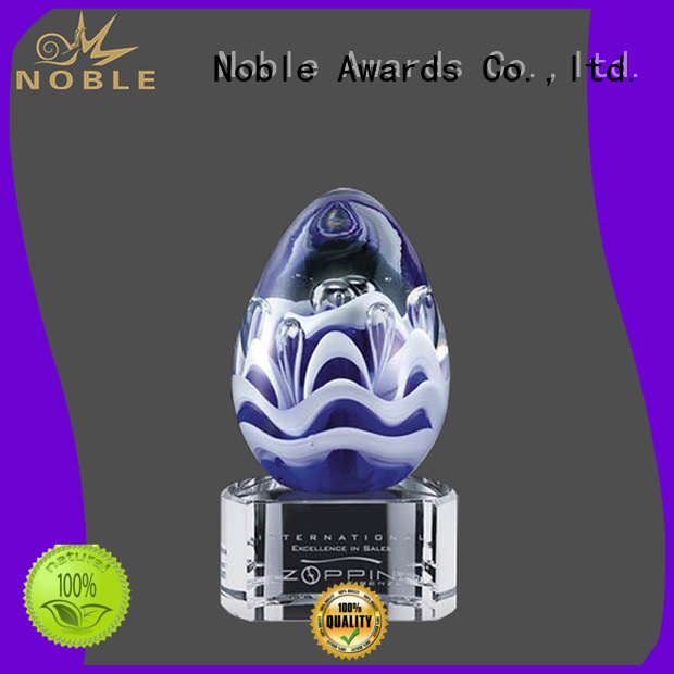 Noble Awards latest Art glass trophies supplier For Awards