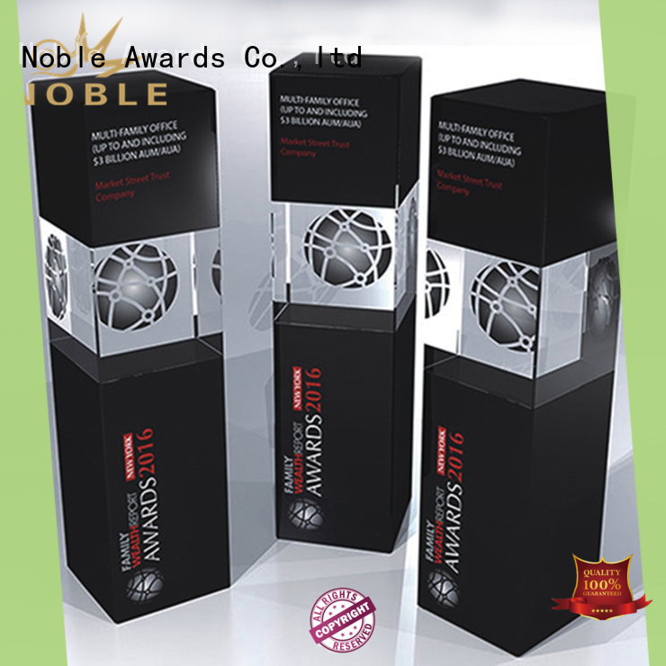 Noble Awards portable Crystal trophies get quote For Gift